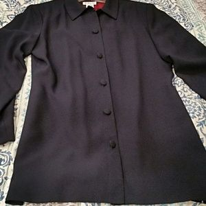 NWT - Vintage Talbots Navy Blue Two-Piece Suit